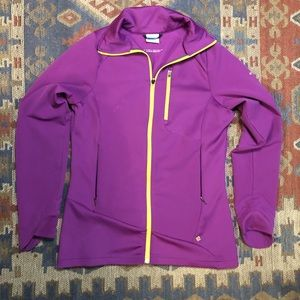 Columbia purple yellow jacket Omni shield med